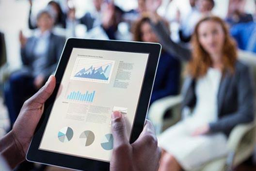 Presentation pilotée sans fil via téléphone ou tablette tactile